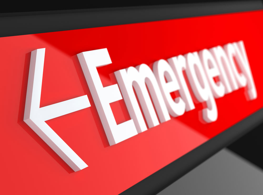An image of an emergency sign